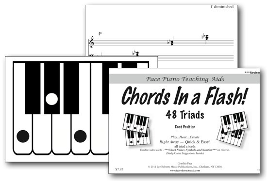 Chords In A Flash Flashcards Robert Pace Piano